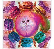 Burger Floof Kitty Cheese Baby Poster