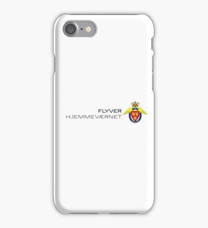 Flyverhjemmeværnet (Air Force Home Guard) Logo med tekst  iPhone Case/Skin