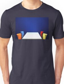 Table,Chairs, Wall Unisex T-Shirt