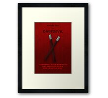 Daredevil Character Poster Framed Print