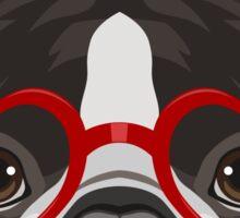 Boston Terrier Dog Hipster Glasses Sticker