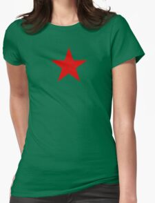 Communist Red Star Womens Fitted T-Shirt