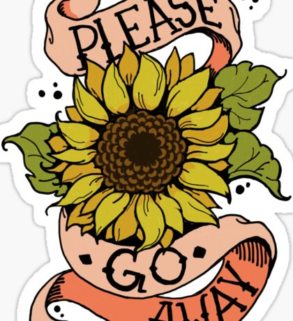 Misanthropic Sunflower Sticker