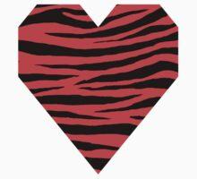 0149 Coral Red Tiger Kids Tee