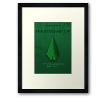 The Green Arrow Character Poster Framed Print