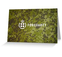Forsvaret (Royal Danish Army)  - Camo (v1) Greeting Card