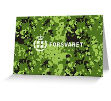 Forsvaret (Royal Danish Army)  - Camo (v2) Greeting Card