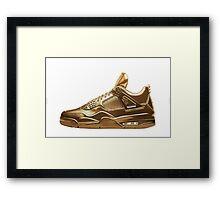 Nike Gold Framed Print