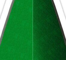 Green Arrowhead Sticker