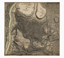 American Revolutionary War Era Maps 1750-1786 777 Plan of the encampment and position of the army under His Excelly Lt General Burgoyne at Bræmus Heights on Baby Tee