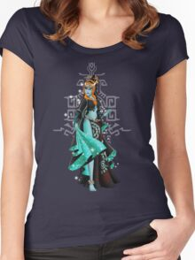 Gaming Princess: Midna (turquoise) Women's Fitted Scoop T-Shirt