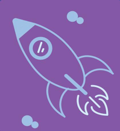 Rocket Ship Vector Sticker