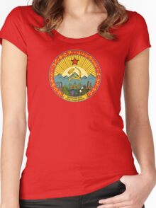 Vintage CCCP / USSR logo Women's Fitted Scoop T-Shirt