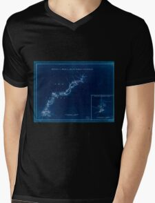 American Revolutionary War Era Maps 1750-1786 896 Sketch of the road from Black Horse to Crosswick Sketch of Allen's Town Inverted Mens V-Neck T-Shirt