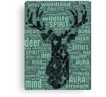 The One With The Spirit Animal's Words of Life (Deer) Canvas Print