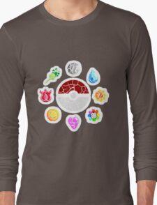 Broken Kanto Badges - Pokemon Long Sleeve T-Shirt
