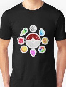 Broken Kanto Badges - Pokemon T-Shirt