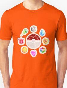 Broken Kanto Badges - Pokemon Unisex T-Shirt
