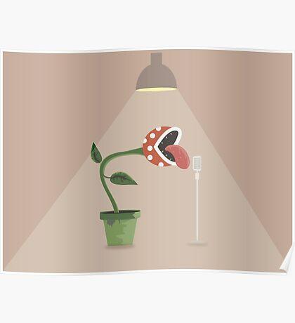Piranha Plant Singing Poster