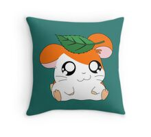 Hamtaro with Leaf Throw Pillow