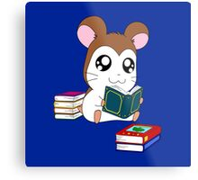 Maxwell with Books Metal Print