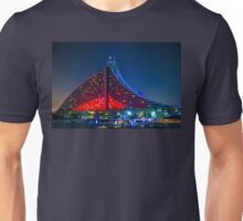 United Arab Emirates. Dubai. Jumeirah Hotel. Night. Unisex T-Shirt
