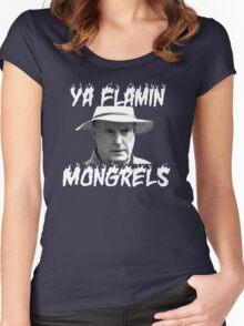 Alf Stewart Flamin Mongrels Women's Fitted Scoop T-Shirt