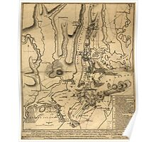 American Revolutionary War Era Maps 1750-1786 194 A plan of New York Island with part of Long Island Staten Island & east New Jersey with a particular Poster