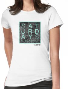 Weekend Warrior Womens Fitted T-Shirt