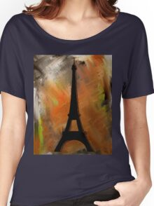 Eiffel Tower Rustic Women's Relaxed Fit T-Shirt