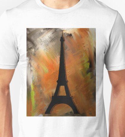 Eiffel Tower Rustic Unisex T-Shirt