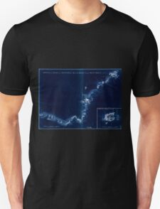 American Revolutionary War Era Maps 1750-1786 874 Sketch of Haddonfield March 1778 Sketch of the roads from Pennyhill to Black Horse through Mount Holly Inverted Unisex T-Shirt