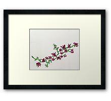 pink flower vine Framed Print