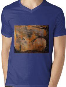 The Lonely Girl Mens V-Neck T-Shirt