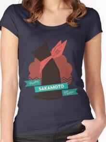 Nichijou Sakamoto  Women's Fitted Scoop T-Shirt