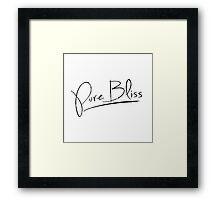 Pure Bliss [Black] Framed Print