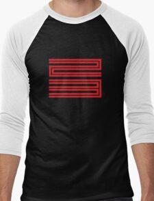 J11-23 Red Men's Baseball ¾ T-Shirt