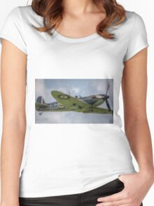 Supermarine Spitfire P7350 F Mk IIa Women's Fitted Scoop T-Shirt