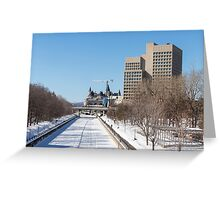 Ottawa's Rideau Canal in winter Greeting Card