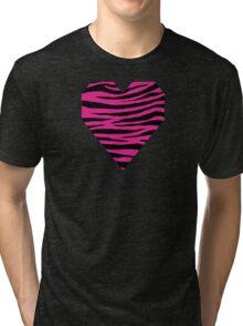0152 Barbie Pink Tiger Tri-blend T-Shirt