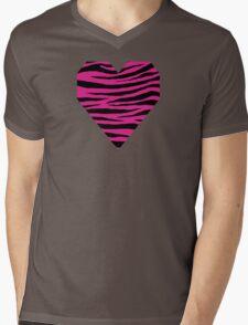 0152 Barbie Pink Tiger Mens V-Neck T-Shirt
