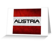 Austrian Pride T Shirt Greeting Card