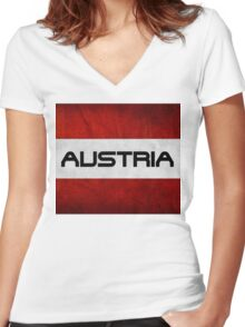 Austrian Pride T Shirt Women's Fitted V-Neck T-Shirt