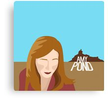 amy pond - day of the moon Canvas Print