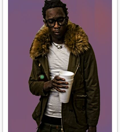 Young Thug lean Sticker
