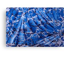Abstract Ebru in Blue Canvas Print