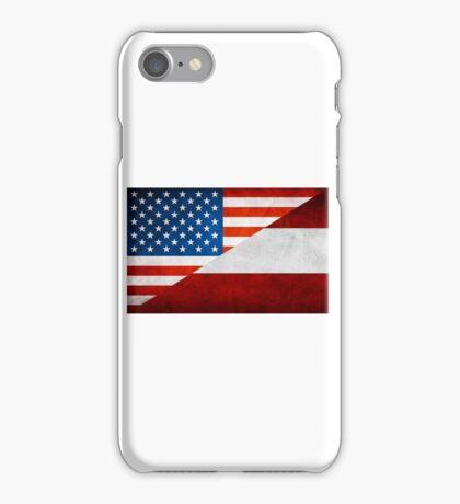 Half Austrian Half American Flag iPhone Case/Skin