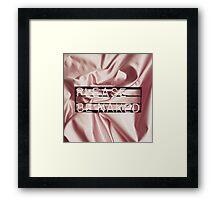 Be naked.  Framed Print