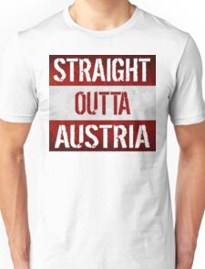 Straight Outta Austria Flag Unisex T-Shirt