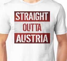 Straight Outta Austria Flag Unisex T-Shirt